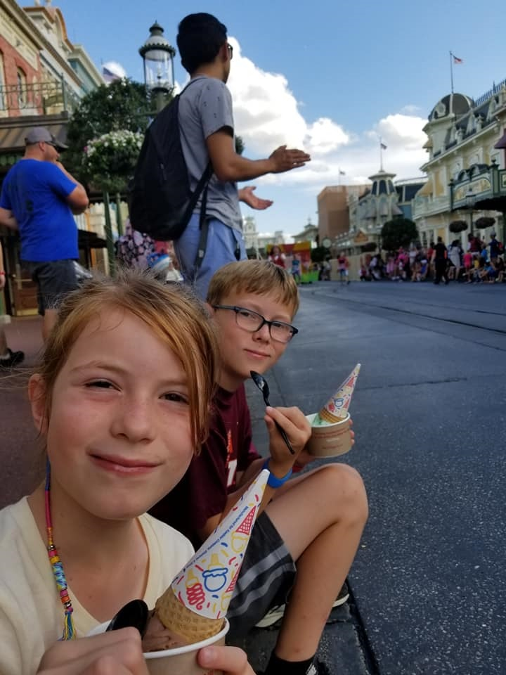 Avoid a meltdown by providing plenty of breaks and snacks when doing Disney World with autism.