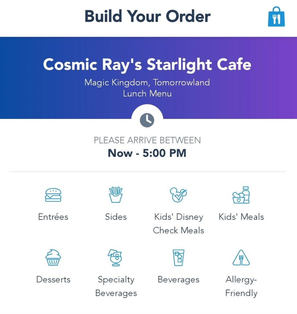 Allergy menus are available when using Disney World mobile ordering.