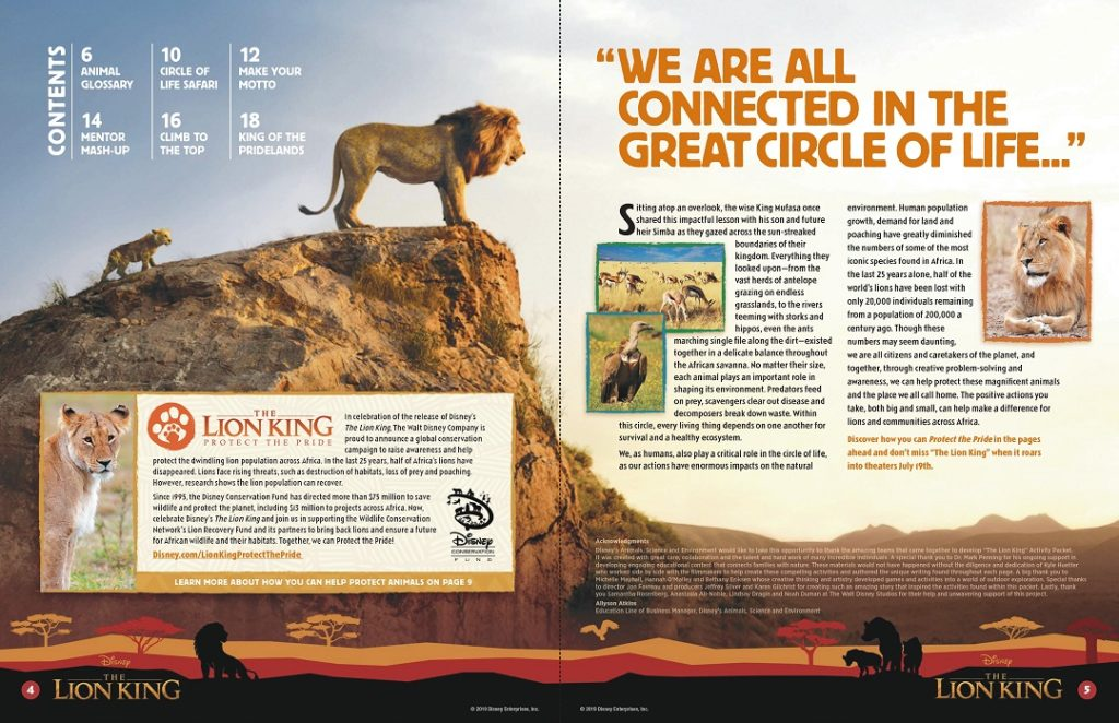 Learn about the circle of life with these lion king printables.