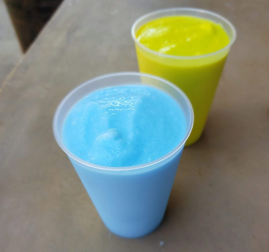 Guests get to try blue and green milk in Galaxy's Edge.