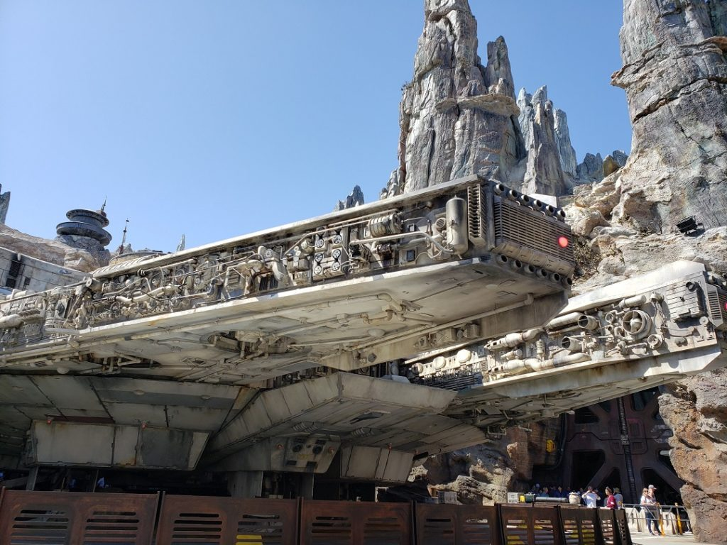 Take a turn piloting the infamous Millennium Falcon in Star Wars Galaxy's Edge.
