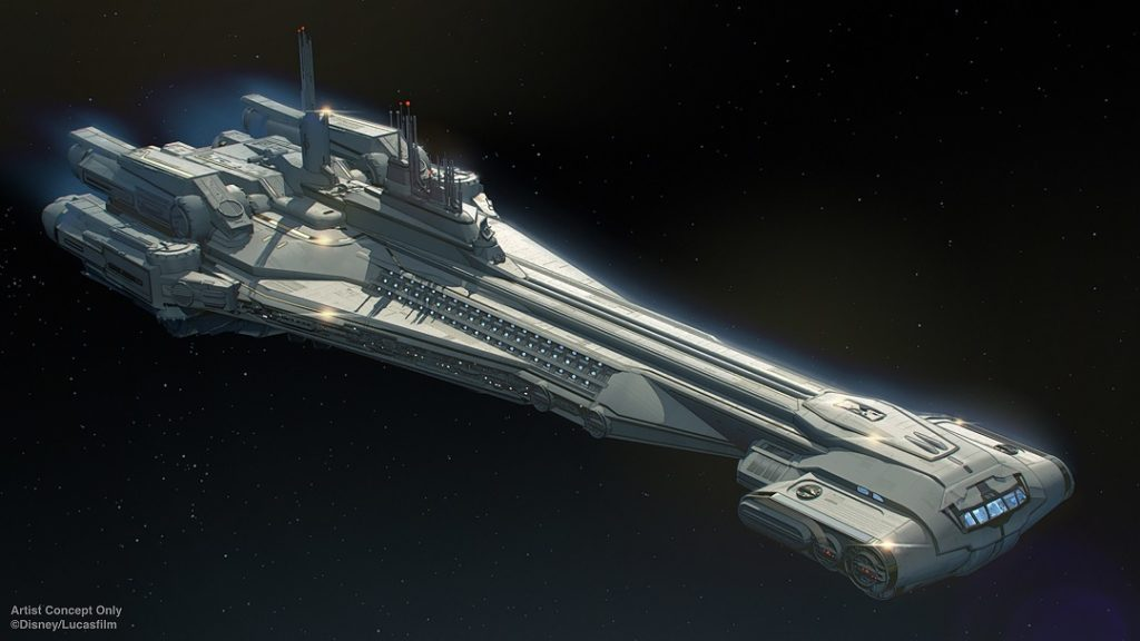 Artist rendering of the Star Wars: Galactic Starcruiser