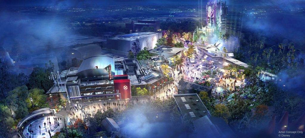 The D23 Expo announcements have included the name for the new Marvel land - Avengers Campus.