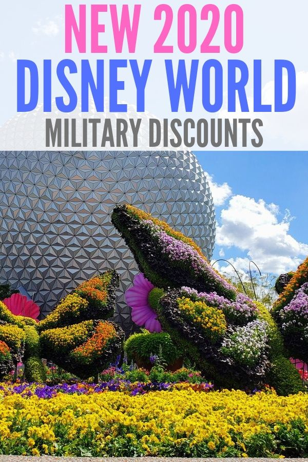 Everything you need to know about the NEW 2020 Disney World military discount! Find out how much you can save plus a new ticket option is available.