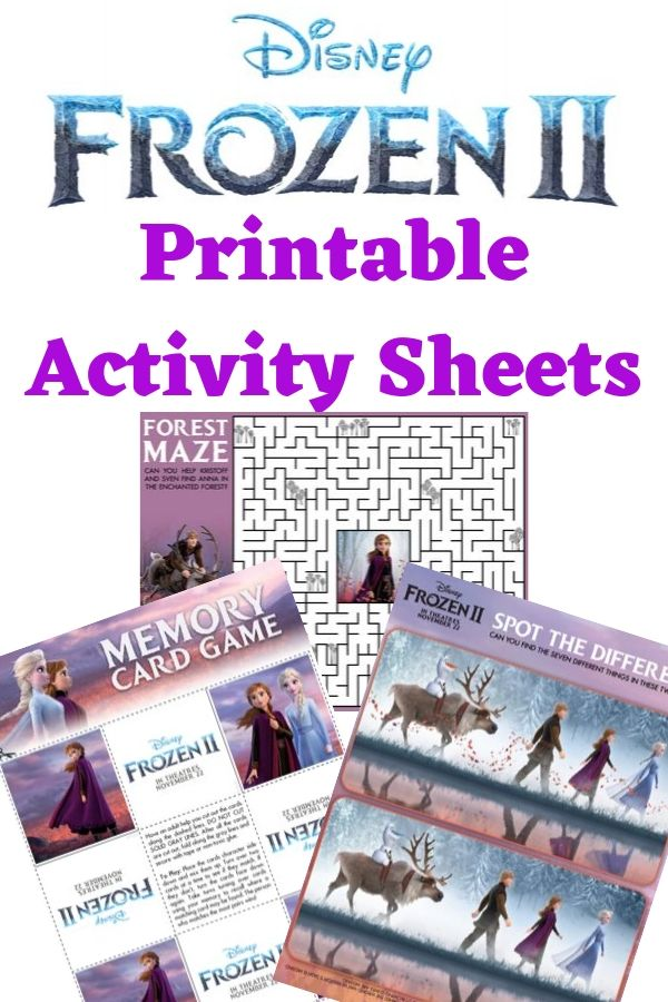 Bring the excitement home with these fun and free Frozen 2 activity sheets!