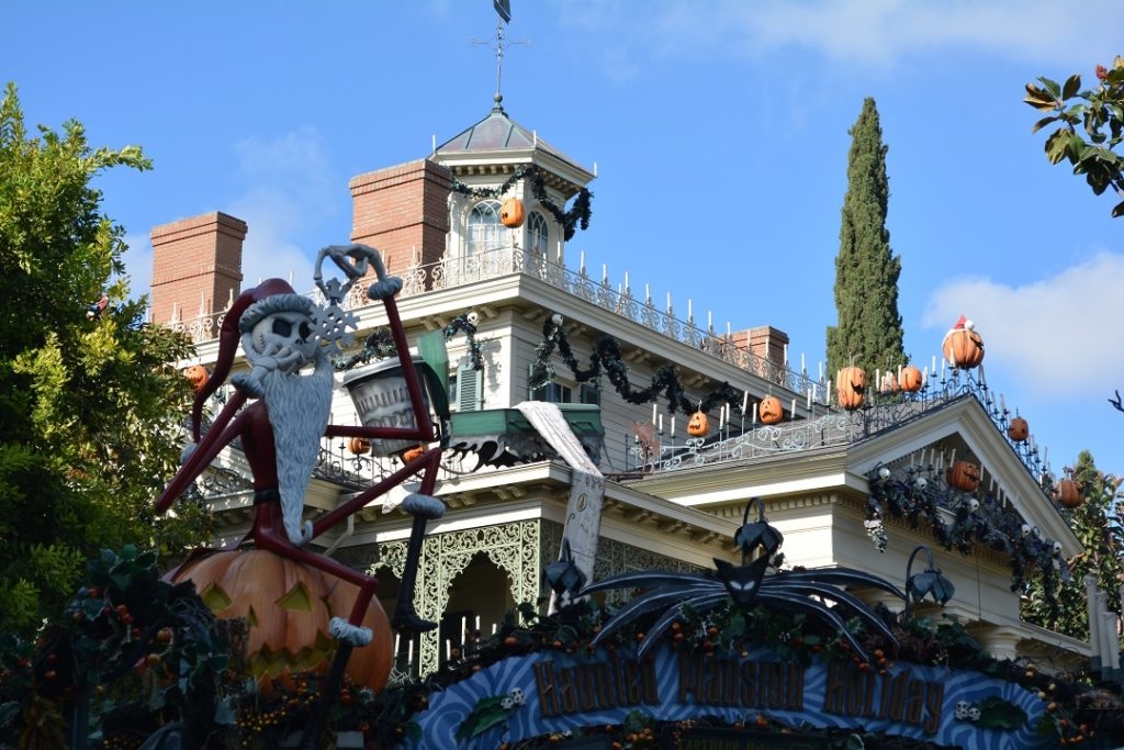 Disneyland's Haunted Mansion Holiday is amazing to see.