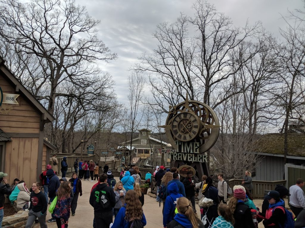 Silver Dollar City's newest attractions is a spinning roller coaster The Time Traveler.
