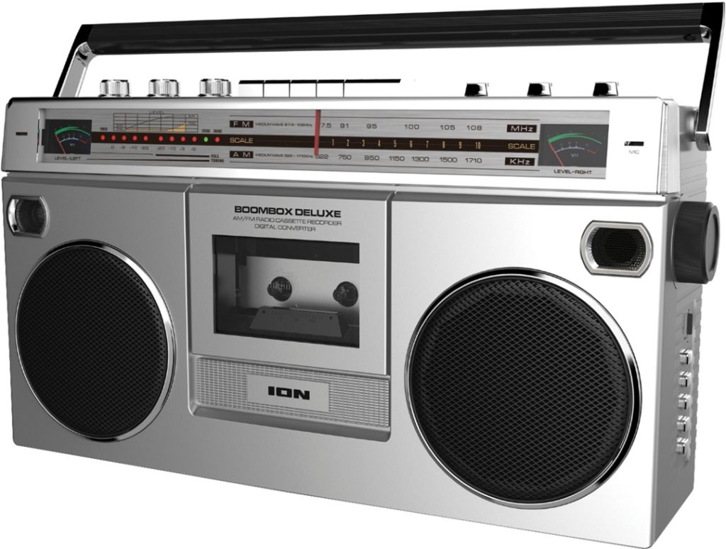 Rock your cassettes into the new age with the ION Boombox Deluxe Bluetooth Speaker