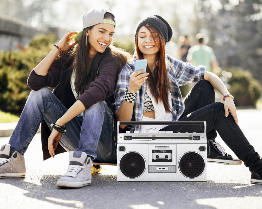 Teenagers will love the Bluetooth speaker on the ION Boombox.