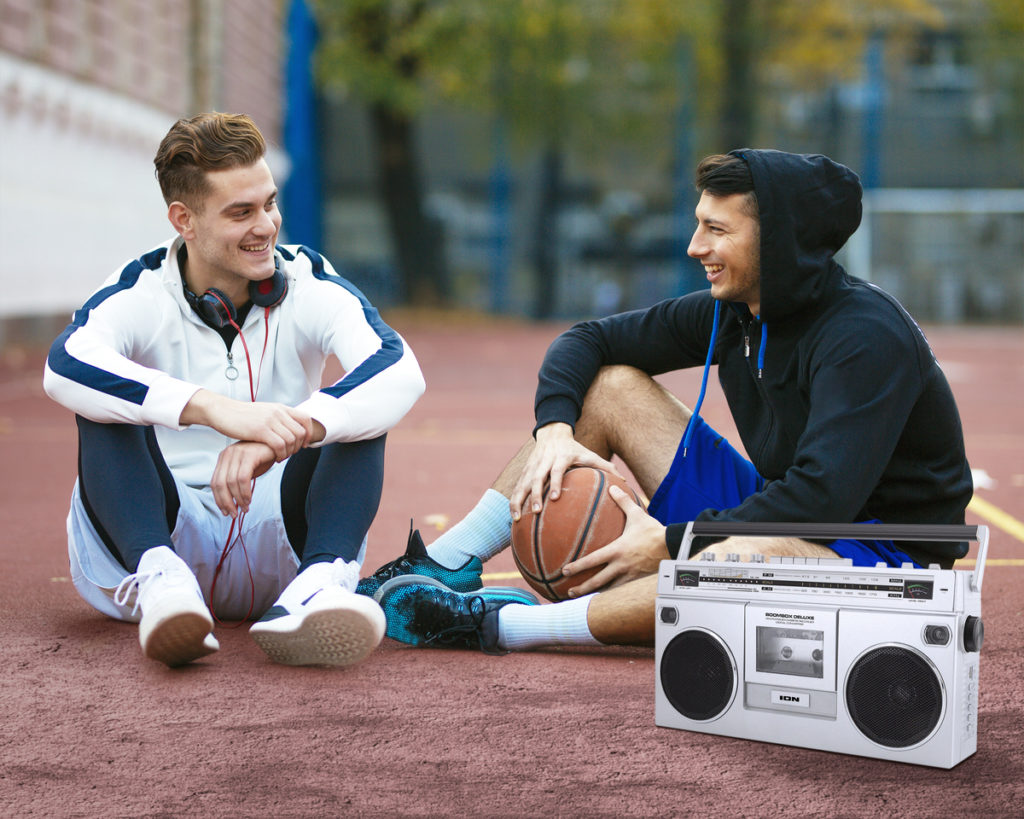 Take the ION Boombox with you when hitting the courts!