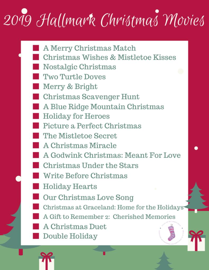 Page 1 of 2019 Hallmark Christmas movie checklist