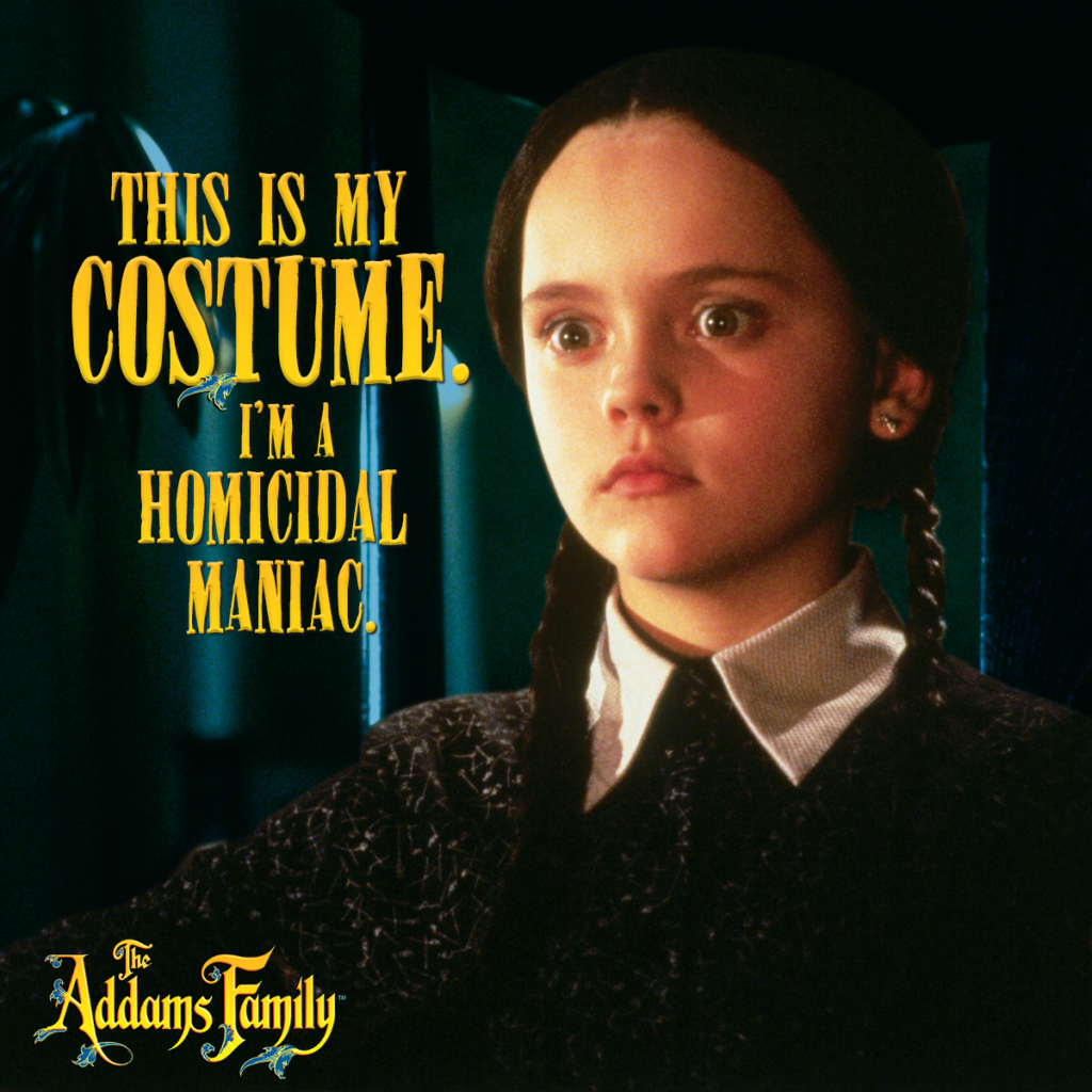 Meet Wednesday Addams with the new Addams Family 2-movie collection on Blu-Ray NOW!