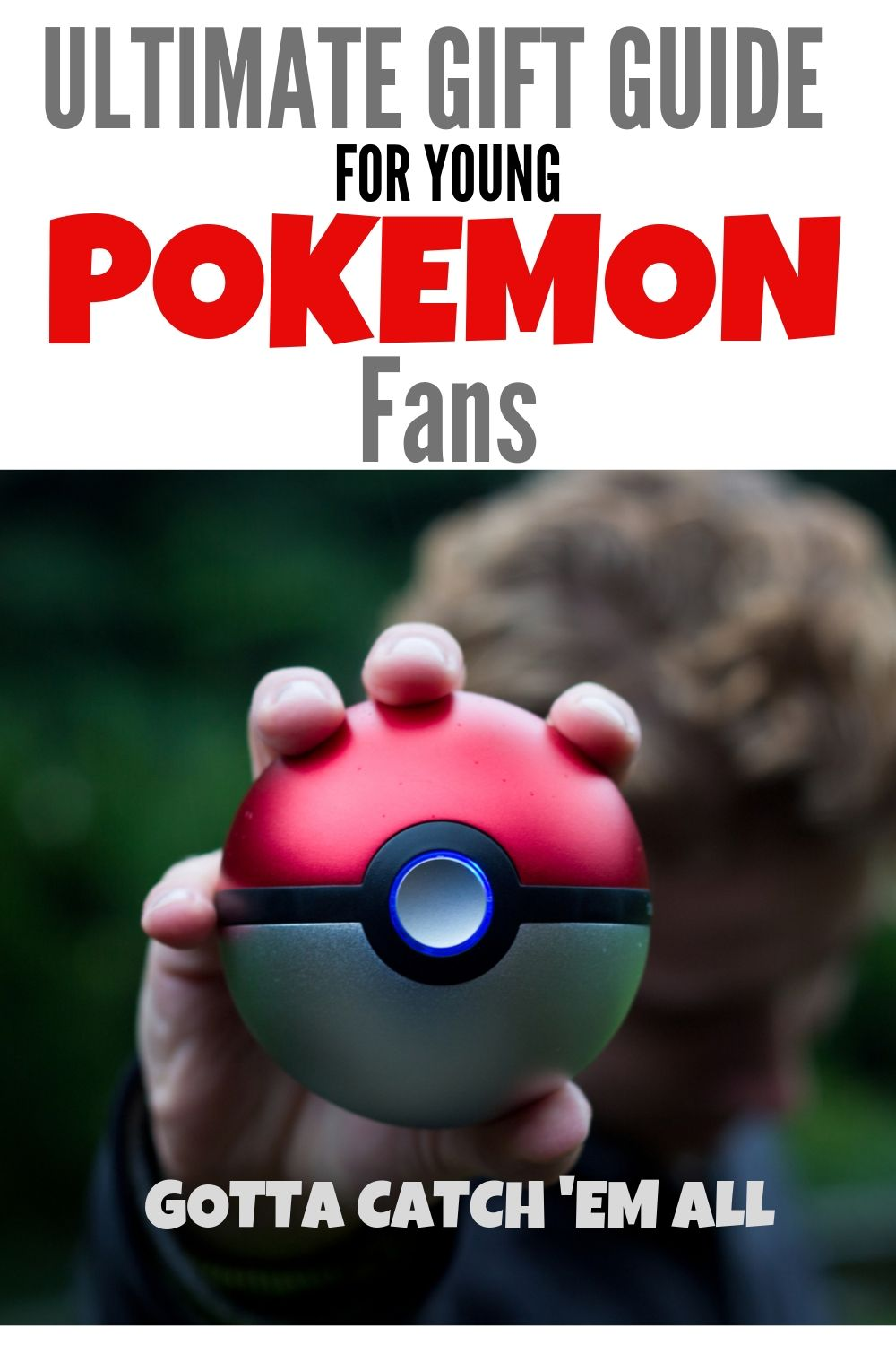 long pin with image of kid holding a Poke ball.
