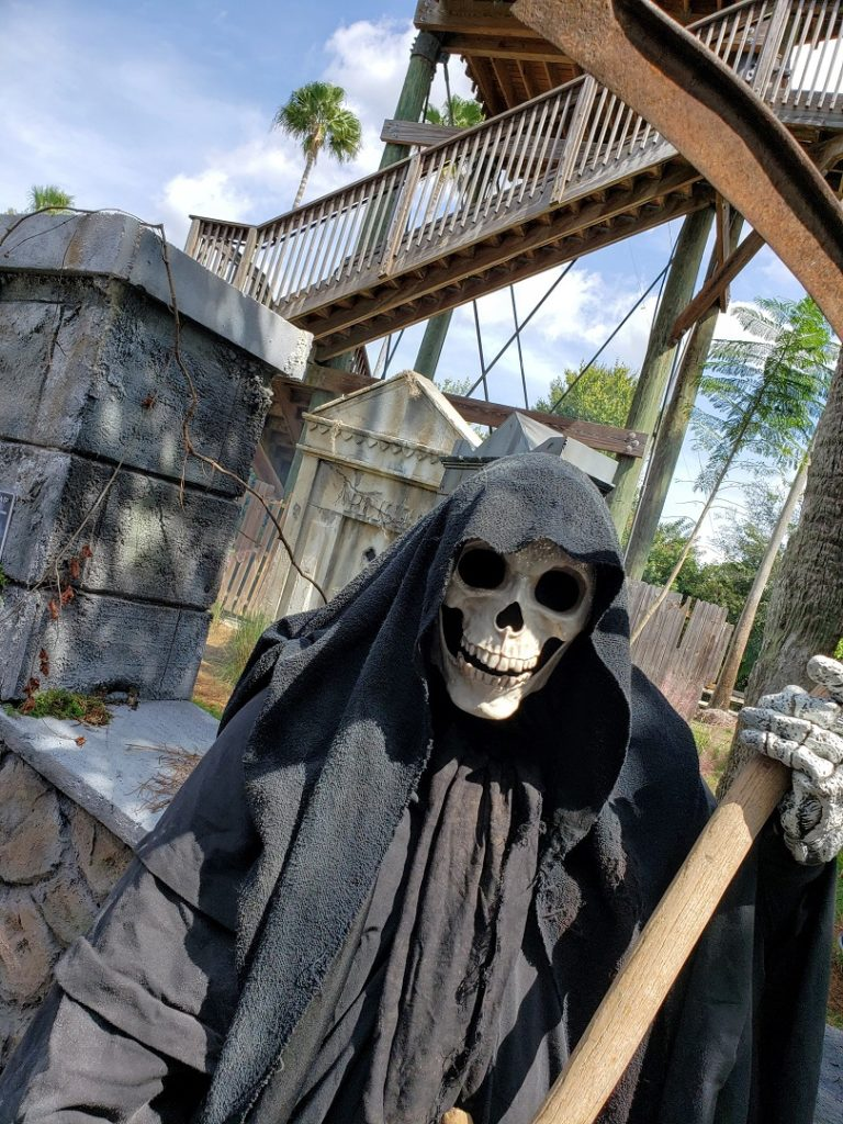 The grim reaper at Gatorland Halloween time.