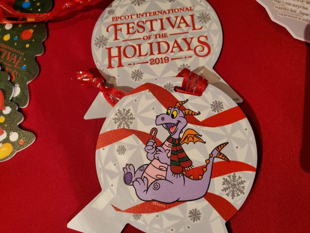 An ornament featuring Disney's Figment