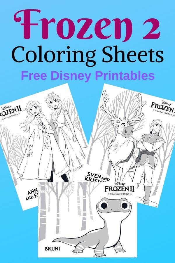 Pinnable image for Frozen 2 coloring sheets