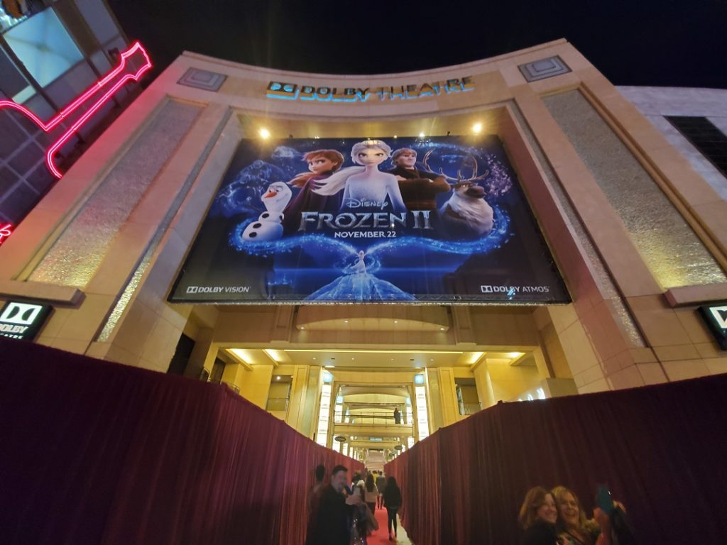 Frozen 2 world premiere at the Dolby Theater in Hollywood, California.