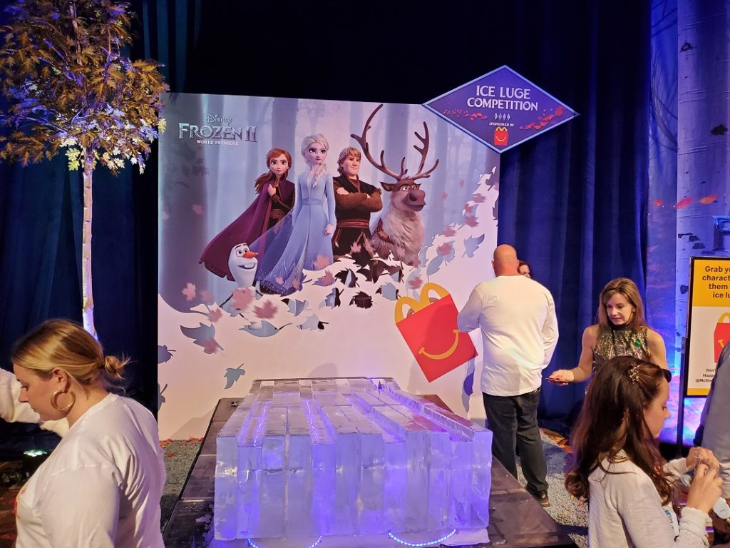 Frozen 2 Ice Luge Competition