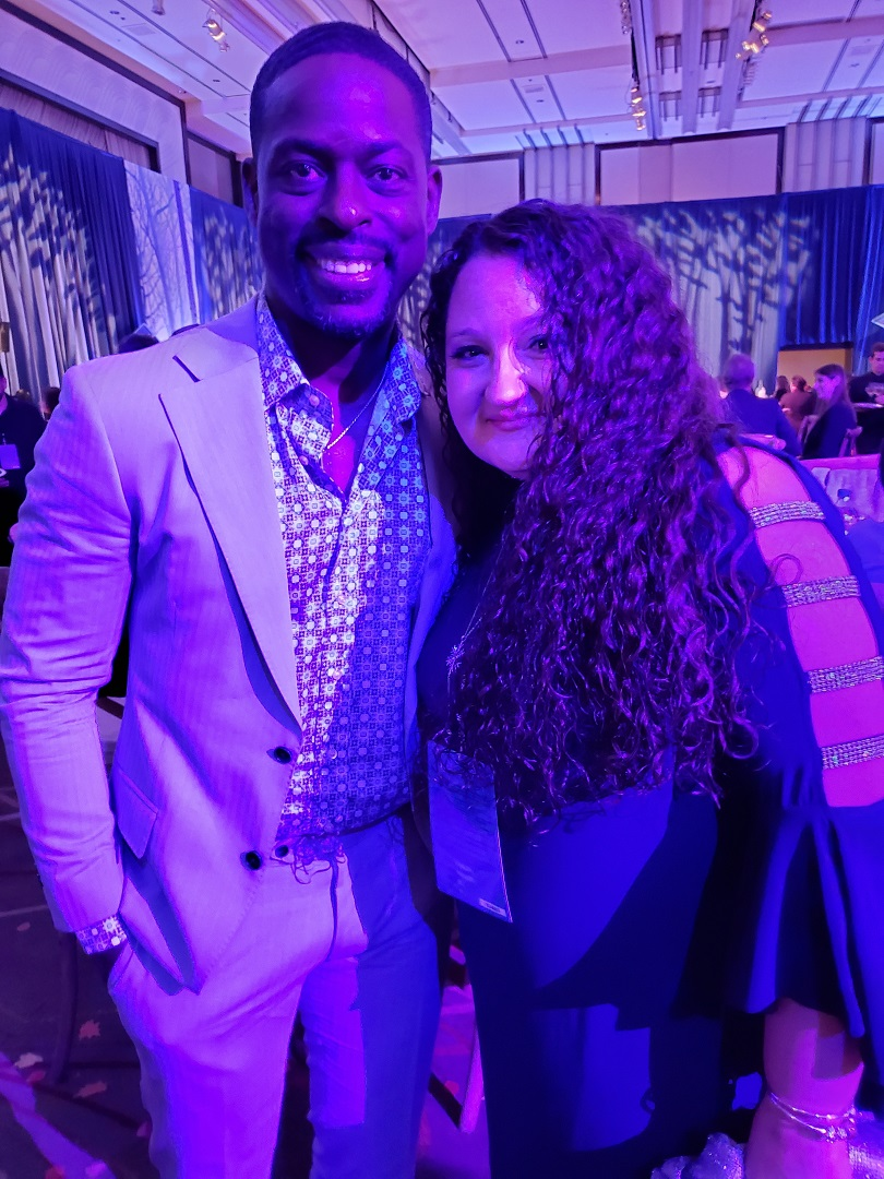 Sterling K. Brown and Renee Virata at the Frozen 2 after party.