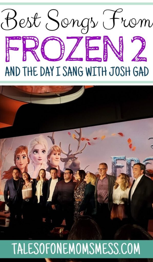 Music from Frozen 2 pinnable image with the cast, directors and producer of Frozen 2.