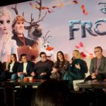 Cast from Frozen 2 at the press junket where we learned parenting tips from Kristen Bell.