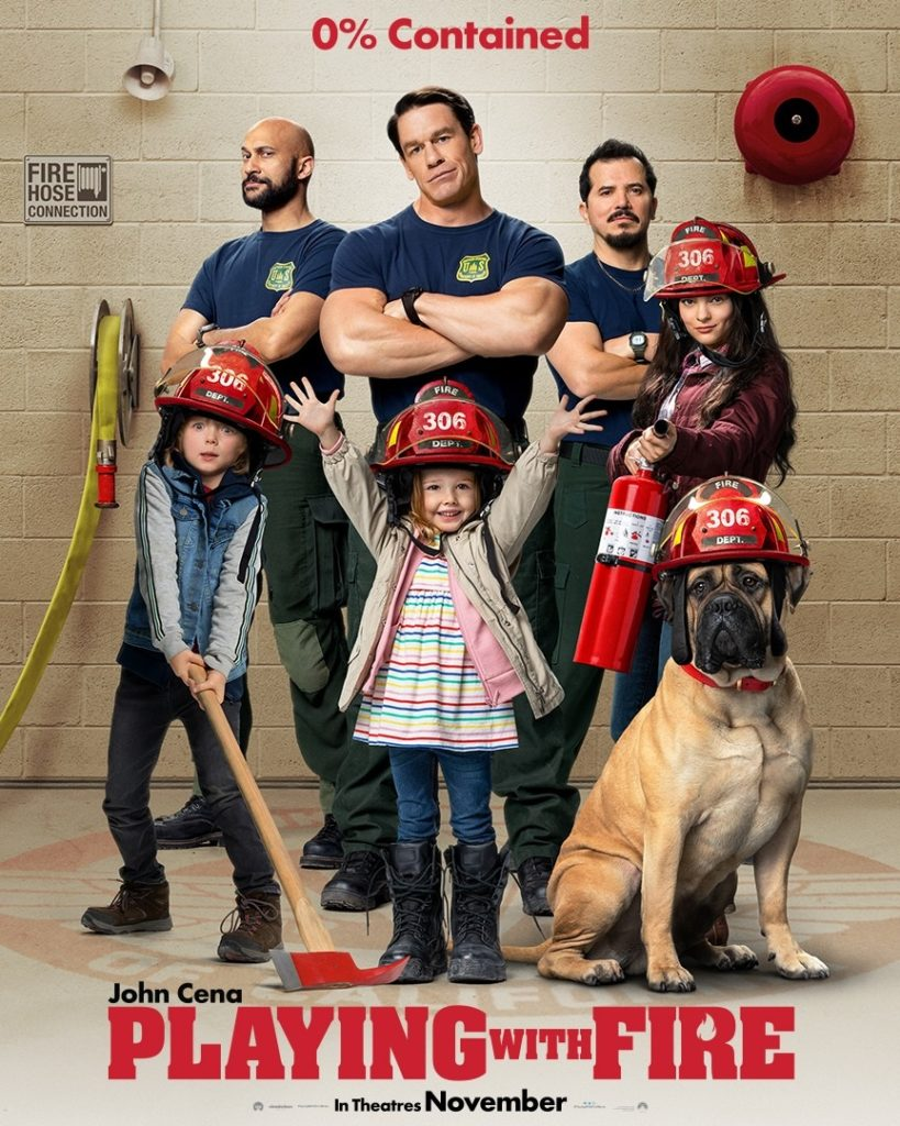 Playing with Fire movie poster featuring John Cena