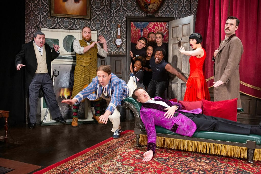 The cast of the Broadway touring show - The Play that Goes Wrong