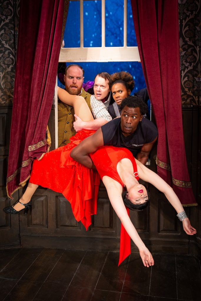 Cast of the Play that Goes Wrong touring show.