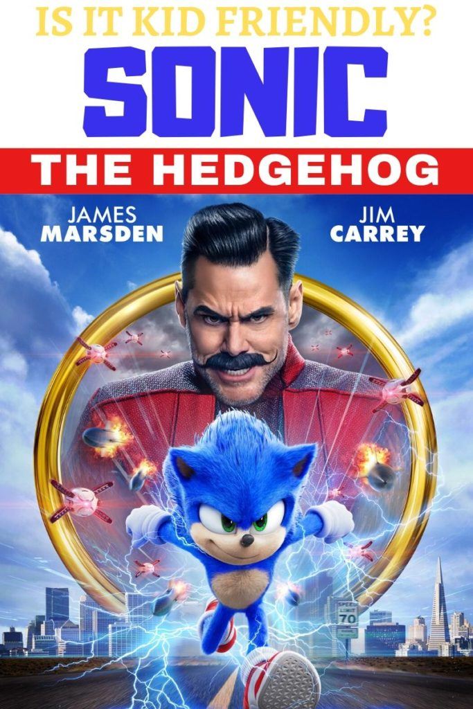 Sonic the Hedgehog movie poster that leads to a post that answers the question Is Sonic kid-friendly?