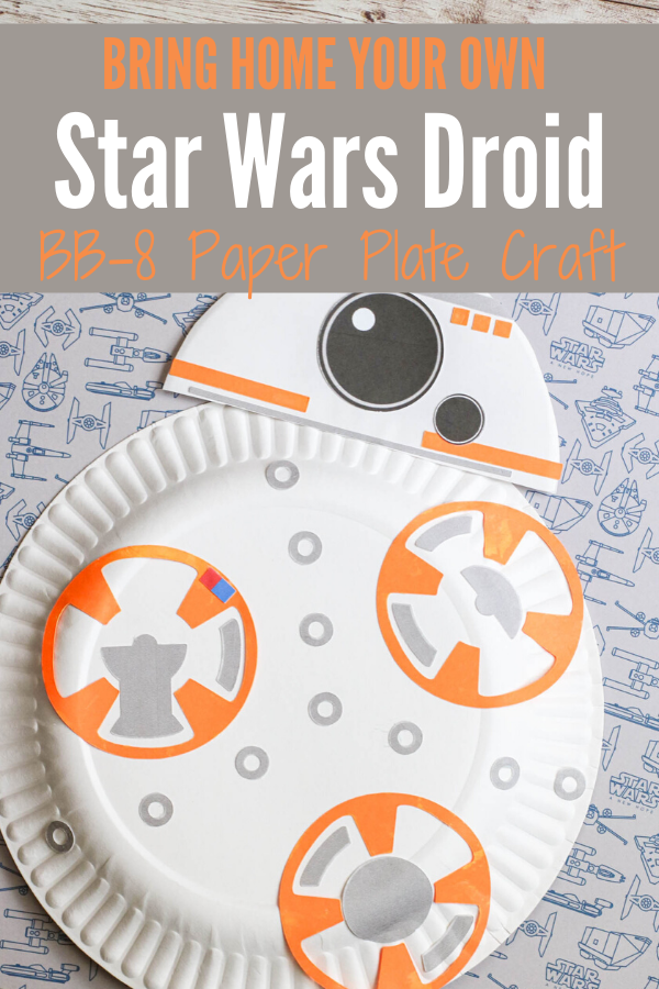 Finished BB-8 paper plate craft