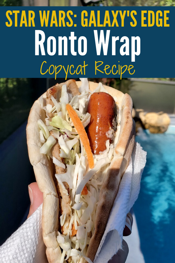 An image of a Ronto Wrap made with a copycat recipe.
