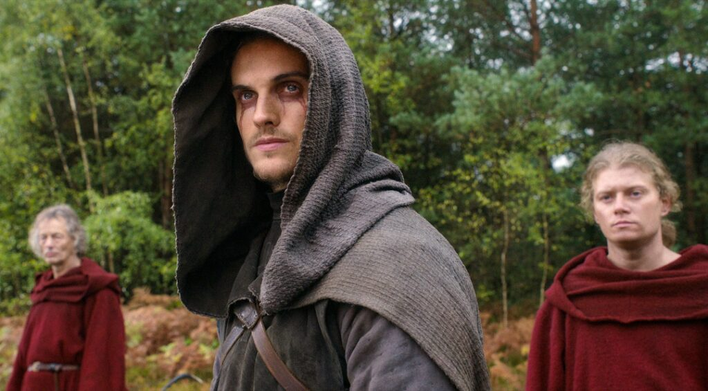 DANIEL SHARMAN as THE WEEPING MONK in episode 107 of NETFLIX CURSED Cr. COURTESY OF NETFLIX © 2020