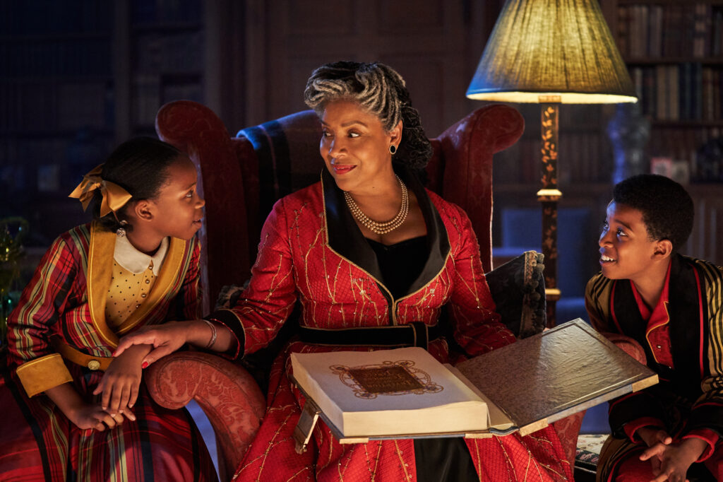 Phylicia Rashad as Grandmother in Jingle Jangle: A Christmas Journey - one of the new holiday movies on Netflix in November 2020.