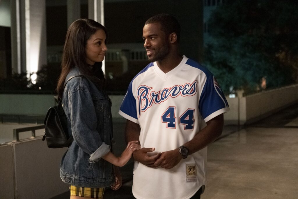 Corinne Foxx as Kaycee and Jay Reeves as Ray Ray in Safety, a new Disney+ movie.