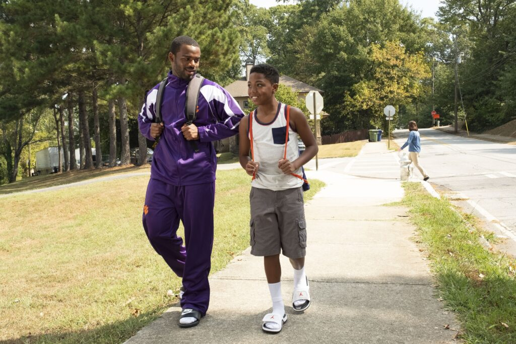 Jay Reeves as Ray Ray and Thaddeus J. Mixson II as Fahmarr in Disney+ Safety movie.