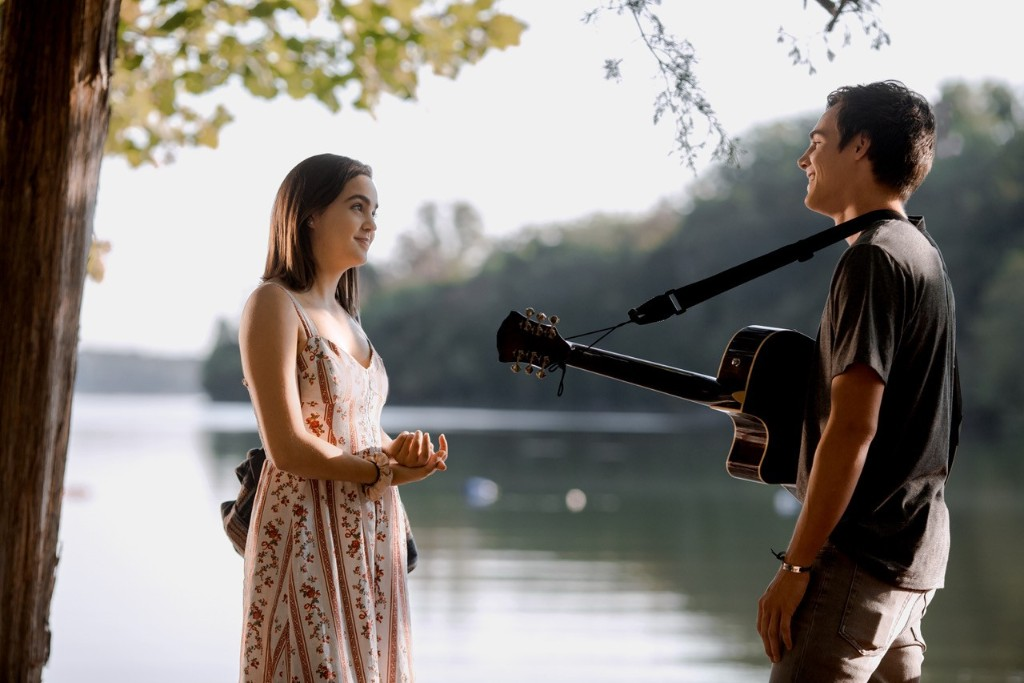 Will Hawkins (Kevin Quinn) and his love interest (Bailee Madison) in Netflix original A Week Away